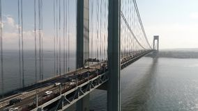 Luft- Brummen Video-Verrazano-Brücke New York stock video footage