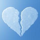 luft bruten hjärta Fotografering för Bildbyråer