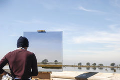 Luft för artisten-plein arkivbild