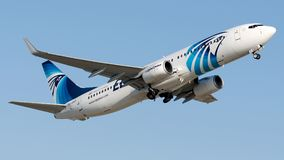Luft för SU-GDX Egypten, Boeing 737-800 Royaltyfria Foton