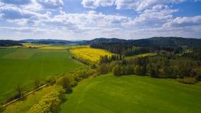 Luft- Foto West-Böhmen-Landschaft lizenzfreie stockbilder