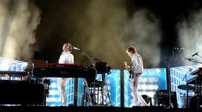 Luft-Franzoseband führen im Konzert an Primavera-Ton-Festival 2016 durch Lizenzfreies Stockbild