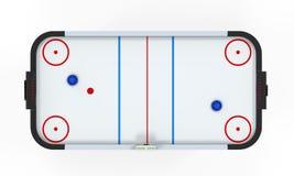 Luft-Hockey-Tabelle lokalisiert Stockbild