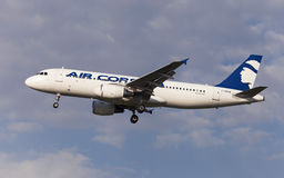 Luft Korsika Airbus A320 Stockbild