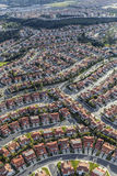Luft-Los Angeles Porter Ranch Homes Stockfoto