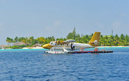 luft maldivian taxar Royaltyfri Fotografi