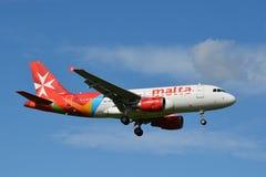 Luft Malta/Airbus A319-112/9H-AEG Lizenzfreies Stockfoto