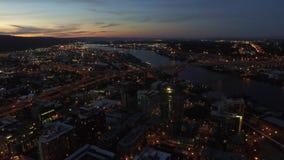 Luft-Oregon Portland stock footage