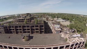 Luft-Packard Anlage Detroits stock video footage