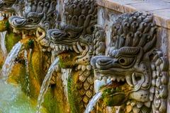 Luft Panas Banjar för varm vår - Bali ö Indonesien Royaltyfri Foto