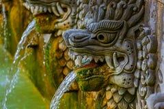 Luft Panas Banjar för varm vår - Bali ö Indonesien Arkivbild