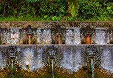 Luft Panas Banjar för varm vår - Bali ö Indonesien Arkivfoton