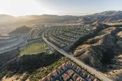 Luft-Porter Ranch-Bereich von Los Angeles Kalifornien lizenzfreies stockfoto