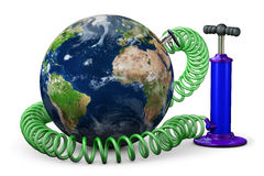 Luft-Pumpe erhöht Planet Erde Stockbilder