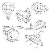 luft skissade transporttyper Arkivbild