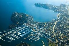 Luft-sonniger Tag Vancouver-Insel Victorias lizenzfreie stockbilder