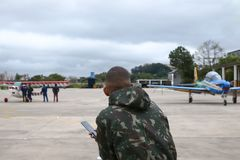 Luft-Sonntag am Flughafen Campo de Marte stockfotografie