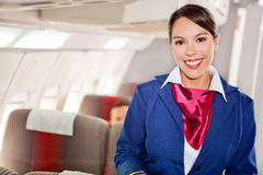 Luft Stewardess Stockfotografie