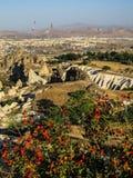 luft sväller den varma cappadociaen Arkivbilder