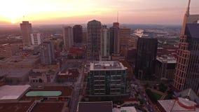 Luft-Tennessee Nashville stock video footage