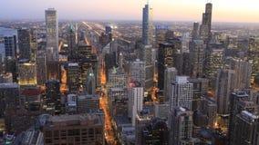 Luft-timelapse 4K UltraHD der Chicago-Skyline stock video footage