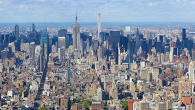 Luft-timelapse 4K UltraHD des Midtown Manhattans, New York-area stock video footage