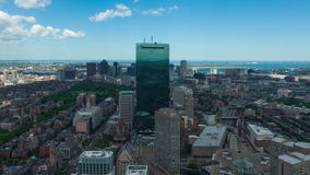 Luft-timelaspe 4K von Boston-Skylinen Massachusetts - USA stock video footage