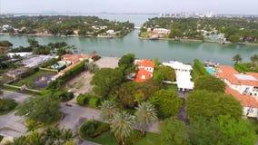 Luft- Video-Allison Island Miami Beach stock video footage