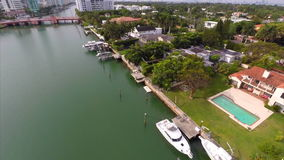 Luft- Video-Allison Island Miami Beach 3 stock video