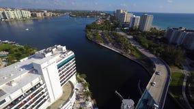 Luft- Video-Boca Raton-Einlass Küsten stock footage