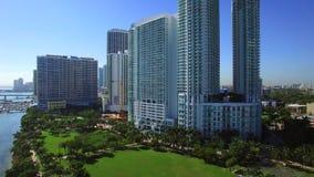 Luft- Video-Edgewater Miami stock video footage