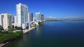 Luft- Video-Edgewater Miami stock footage