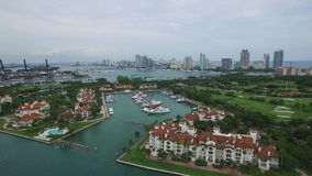 Luft- Video-Fisher Island stock video