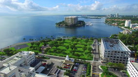 Luft- Video-Grove-Insel Miami stock video footage