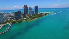 Luft- Video-Miami-hyperlapse stock footage