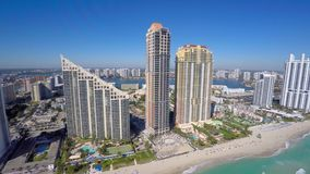 Luft- Video-Sunny Isles Beach FL stock video