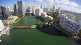 Luft-vido Brickell-Schlüssel Miami FL stock video footage