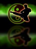 Luft-Zeit-Karate Lizenzfreies Stockbild