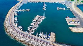Luft-Zygi, Larnaka Stockbilder