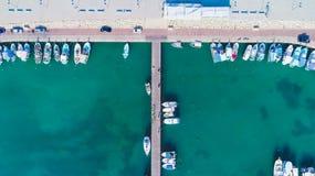 Luft-Zygi, Larnaka Stockfotos