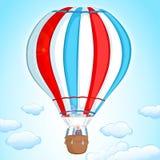 Lufta ballongen Arkivbild