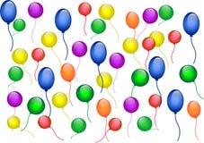 Lufta ballongen texturerar arkivfoton