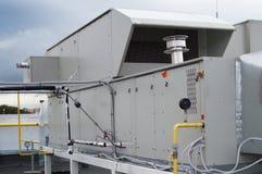 Lufta bruk av enheten för det centrala ventilationssystemet Arkivbilder