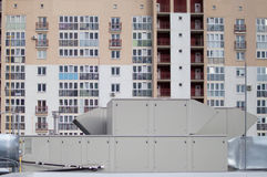 Lufta bruk av enhetstaket för det centrala ventilationssystemet Arkivfoto