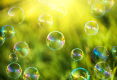 Lufta bubblar Arkivfoton