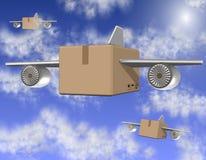Lufta fraktar stock illustrationer