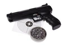 Lufta vapnet med vapen-skyddar, och kulor boxas in Royaltyfri Bild