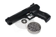 Lufta vapnet med vapen-skyddar, och kulor boxas in Royaltyfri Fotografi