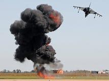 Luftangriff Stockfoto