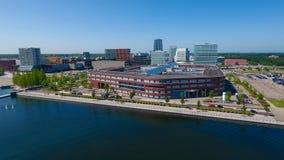 Luftansicht von almere die Niederlande Lizenzfreie Stockfotos
